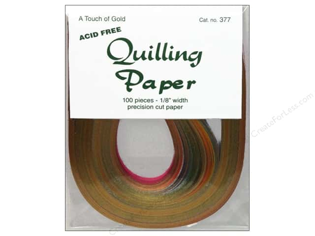 Lake City Crafts Quilling Paper 1/8 in. Touch Gold 100 pc.