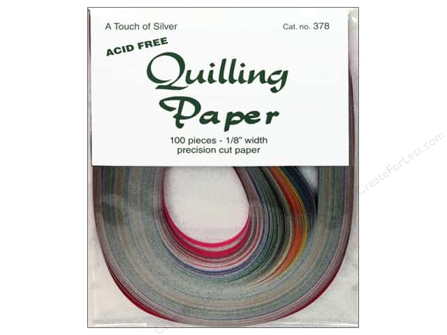 Lake City Crafts Quilling Paper 1/8 in. Touch Silver 100 pc.