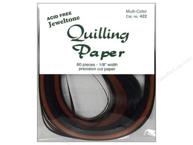 Lake City Crafts Quilling Paper 1/8 in. Jeweltones 60 pc.
