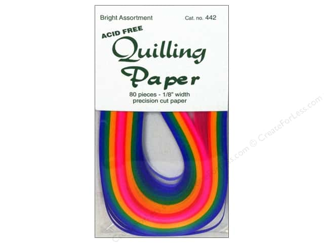 Lake City Crafts Quilling Paper 1/8 in. Bright 80 pc.