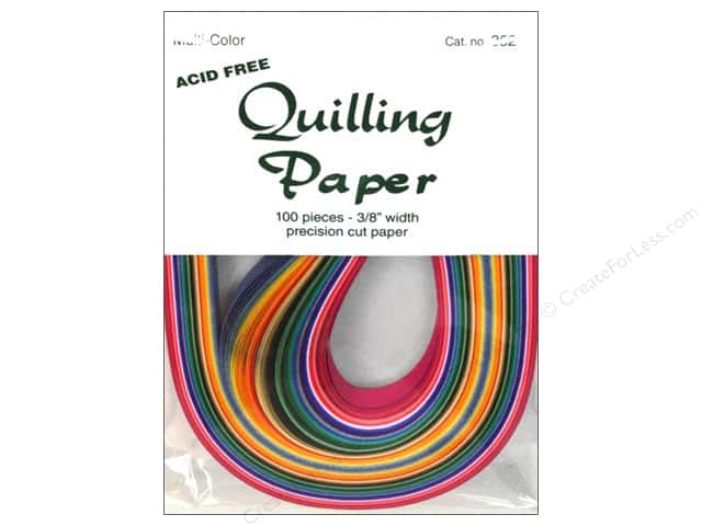 Lake City Crafts Quilling Paper 3/8 in. Multi