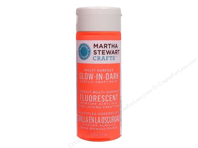 Martha Stewart Glow in the Dark Paint by Plaid Dark Orange