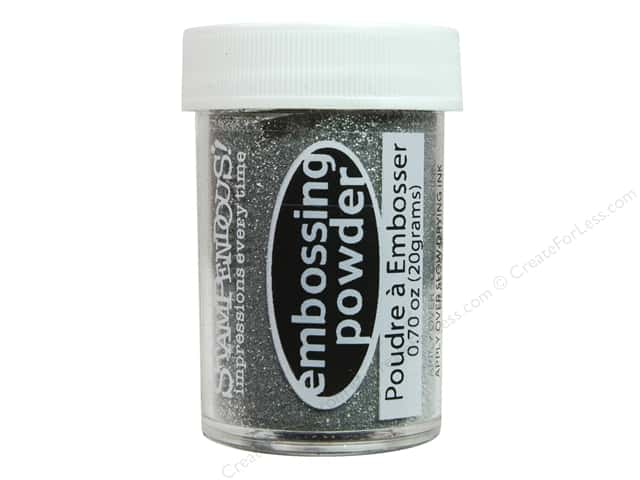 Stampendous Embossing Powder .70 oz. Silver Tinsel