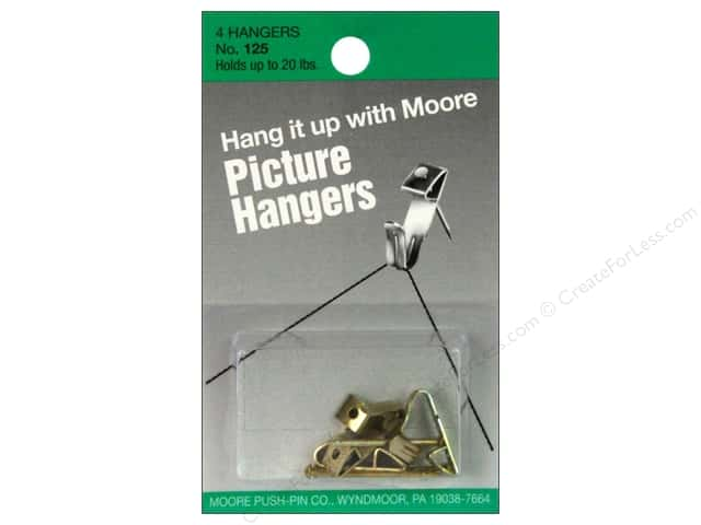 Moore Picture Hangers with Nail 20 lb. 4 pc.