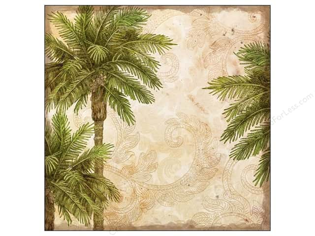 K&Company 12 x 12 in. Paper Tim Coffey Travel Collection Palms (25 sheets)