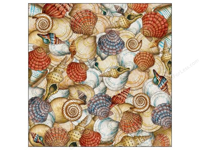 K&Company 12 x 12 in. Paper Tim Coffey Travel Collection Shells (25 sheets)