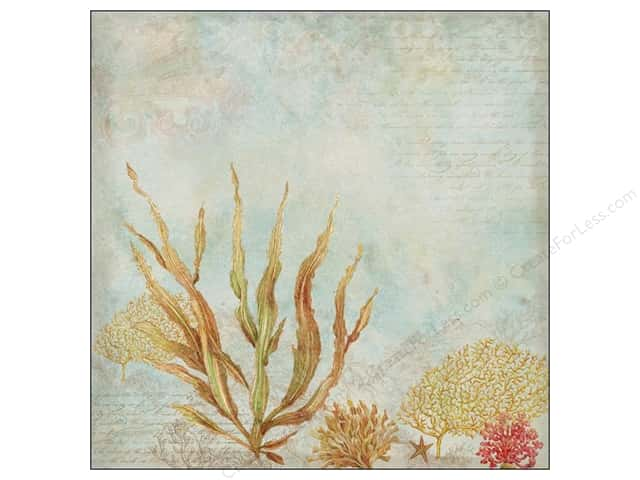 K&Company 12 x 12 in. Paper Tim Coffey Travel Collection Seaweed (25 sheets)