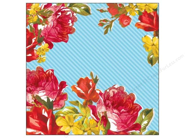 K&Company 12 x 12 in. Paper Bloomscape Collection Bold Roses (25 sheets)