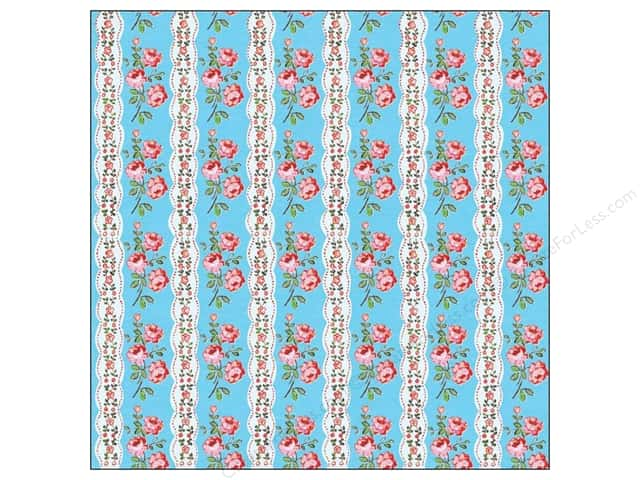 K&Company 12 x 12 in. Paper Bloomscape Collection Floral Stripe (25 sheets)