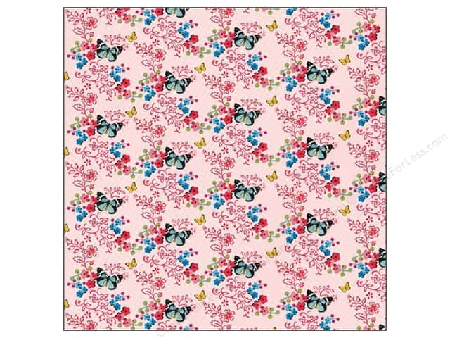 K&Company 12 x 12 in. Paper Bloomscape Collection Butterfly (25 sheets)