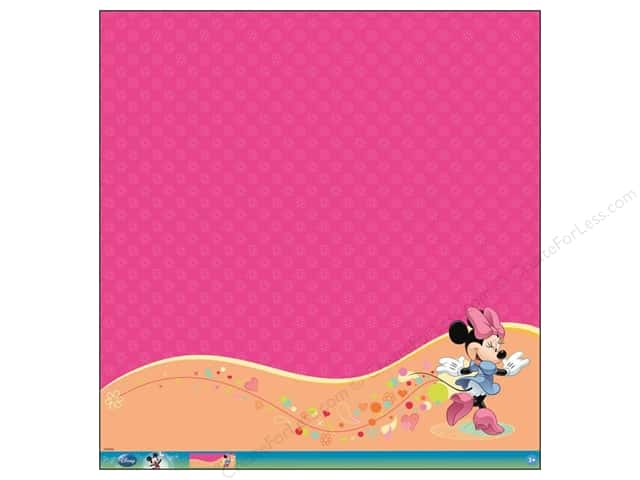EK 12 x 12 in. Paper Disney Minnie Mouse Glitter Thermography (12 sheets)