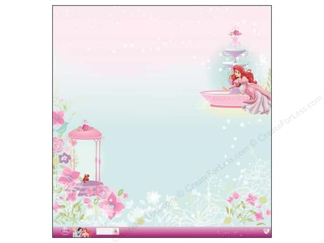 EK 12 x 12 in. Paper Disney Princess Ariel Glitter (12 sheets)