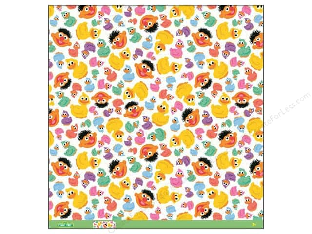 EK 12 x 12 in. Paper Sesame Street Rubber Ducky Thermography (12 sheets)