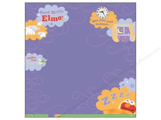 EK 12 x 12 in. Paper Sesame Street Elmo Goodnight Thermography (12 sheets)