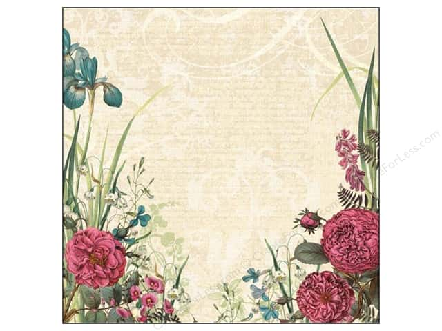 K&Company 12 x 12 in. Paper Merryweather Collection Glitter Rose (12 sheets)