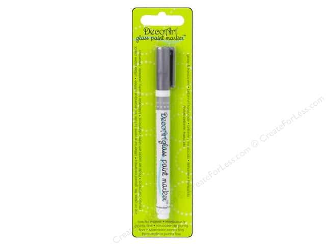 DecoArt Glass Paint Marker Silver