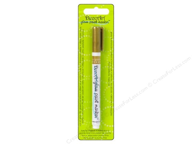 DecoArt Glass Paint Marker Gold