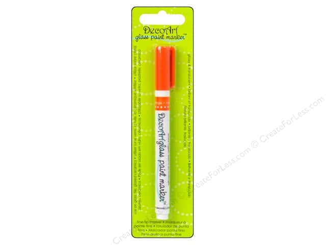 DecoArt Glass Paint Marker Orange