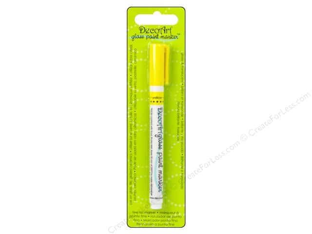 DecoArt Glass Paint Marker Yellow