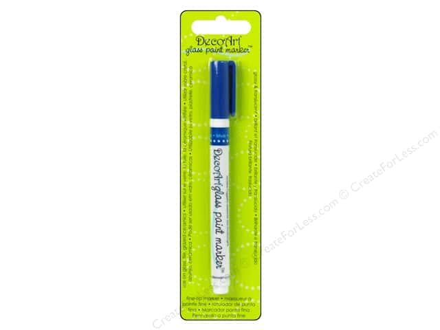 DecoArt Glass Paint Marker Blue