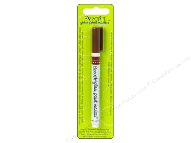 DecoArt Glass Paint Marker Brown