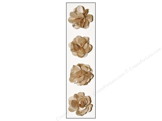 Mark Richards Sticker Fleurettes Flower Satin Beige