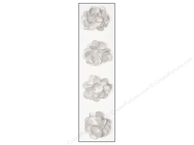 Mark Richards Sticker Fleurettes Flower Satin White
