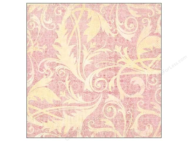 K&Company 12 x 12 in. Paper Kelly Panacci Blossom Collection Thermography Flourish Glitter (12 sheets)