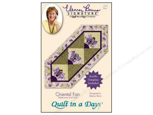 Quilt In A Day Oriental Fan Pattern & Template