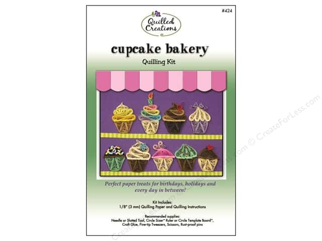 Quilled Creations Quilling Kit Cupcake Bakery