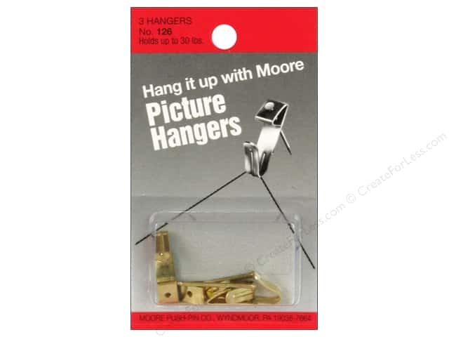 Moore Picture Hangers With Nail 30lb 3pc