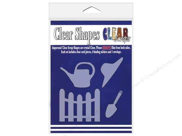Clear Scraps Clear Shapes 4 pc. Garden