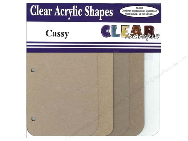 Clear Scraps Mixables Album 8 x 8 in. Cassy