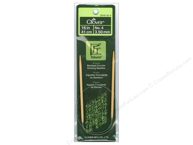 Clover Bamboo Circular Knitting Needles 16 in. Size 4 (3.5 mm)