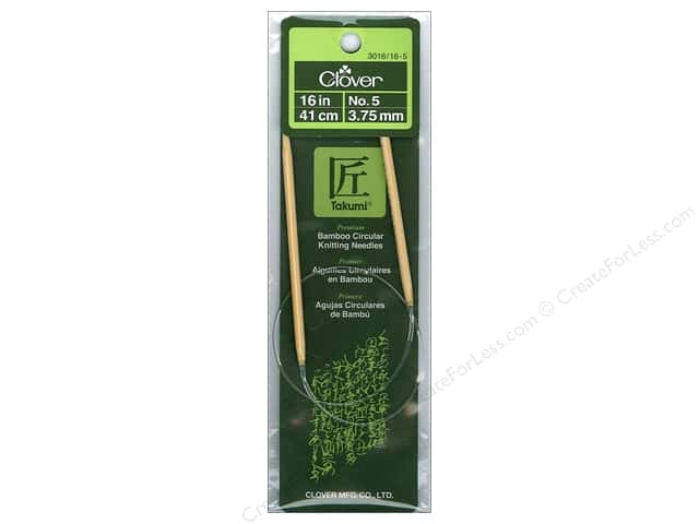Clover Bamboo Circular Knitting Needles 16 in Size 5 (3.75 mm)