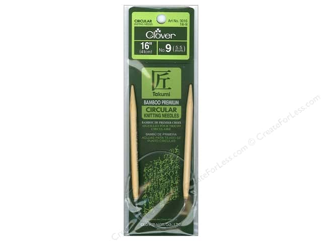Clover Bamboo Circular Knitting Needles 16 in. Size 9 (5.5 mm)
