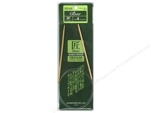Clover Bamboo Circular Knitting Needles 36 in. Size 4 (3.5 mm)