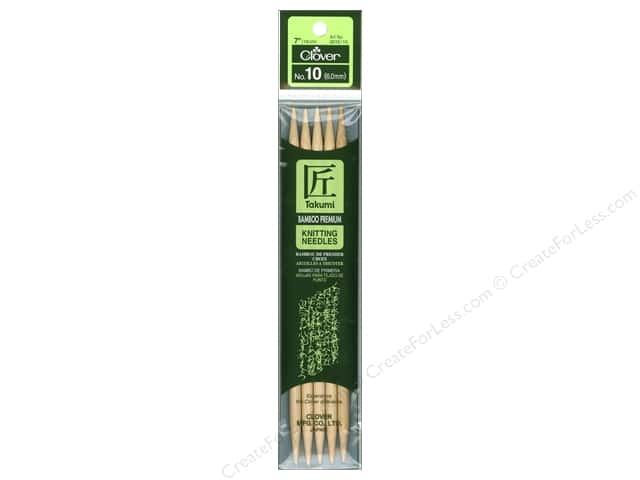 Clover Bamboo Knitting Needle Double Point 7 in. Size 10 (6 mm) 5 pc.