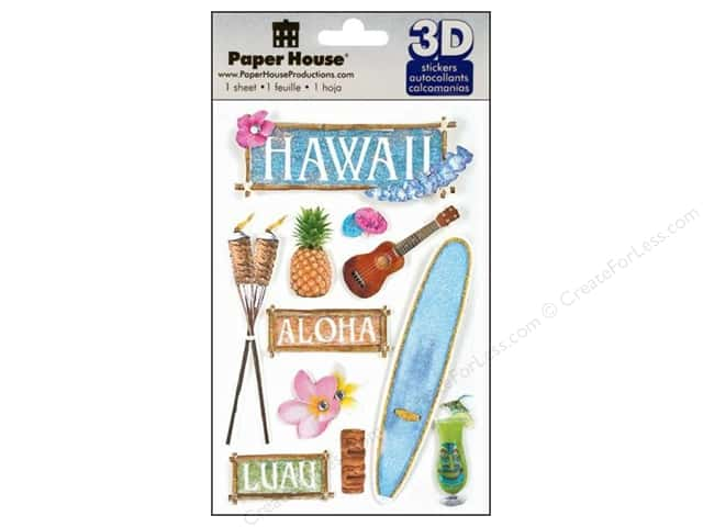 Paper House 3D Stickers - Hawaii