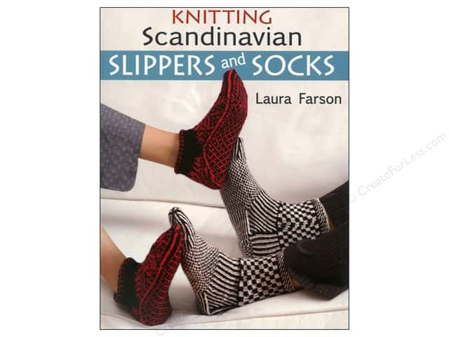 That Patchwork Place Knitting Scandinavian Slippers and Socks Book by Laura Farson