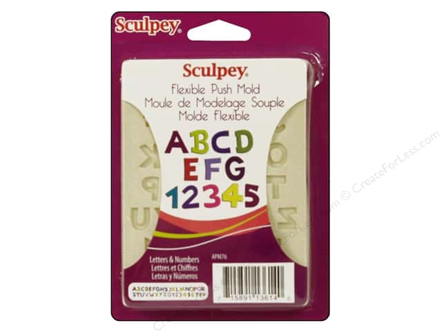 Sculpey Flexible Push Clay Mold - Letter & Numbers