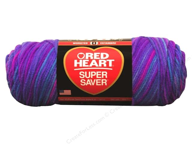 Red Heart Super Saver Yarn #3931 Grape Fizz 244 yd.