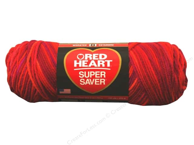 Red Heart Super Saver Yarn #3941 Chili 244 yd.