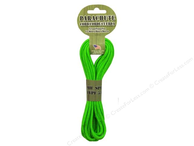Pepperell 550 Parachute Cord 16 ft. Neon Green