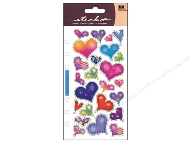 EK Sticko Stickers Sparkle Hearts