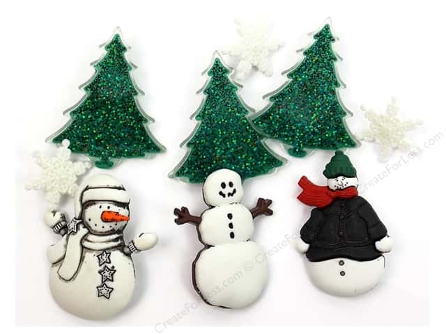 Jesse James Dress It Up Embellishments Christmas Collection Snowy Friends