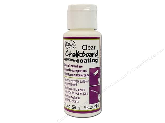 DecoArt Americana Clear Chalkboard Coating 2 oz.