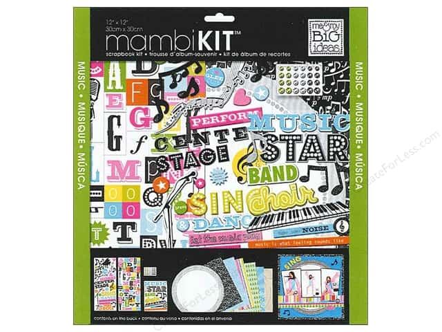 Me & My Big Ideas 12 x 12 in. Scrapbook Kit Music Star