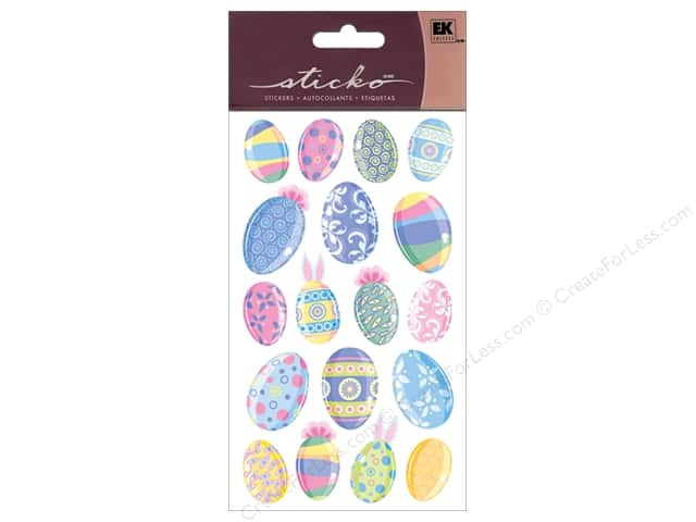 EK Sticko Stickers Multicolor Easter Eggs