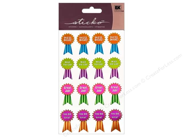 EK Sticko Stickers Award Ribbons